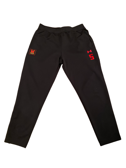 Shaq Smith Maryland Football Sweatpants With Number (Size XL)