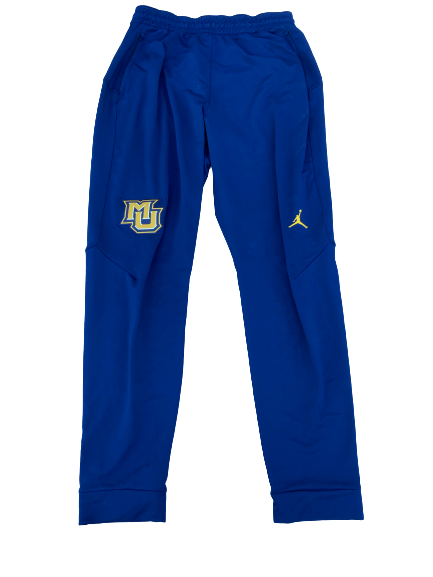 Sacar Anim Marquette Basketball Team Issued Travel Sweatpants (Size LT)