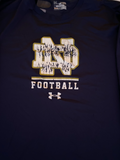 Te'von Coney Notre Dame Football Under Armour Long Sleeve Shirt (Size XL)