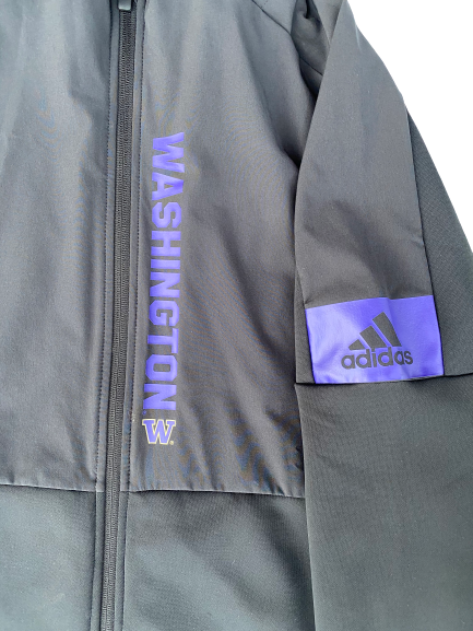 Nahziah Carter Washington Adidas Zip-Up Jacket With Hood (Size M)