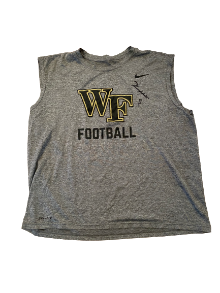 Kendall Hinton Wake Forest Football Team Issued Tank (Size L)