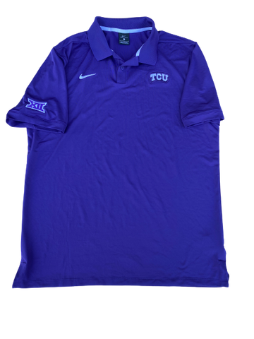 Desmond Bane TCU Team Issued Polo Shirt (Size L)