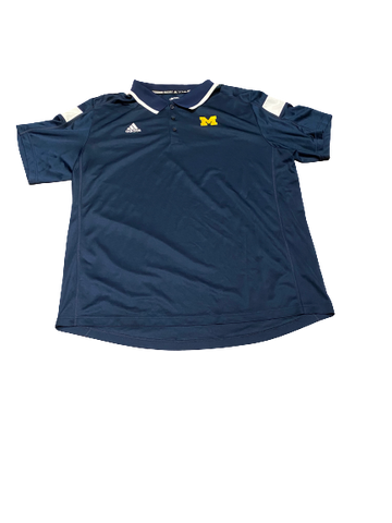 Harrison Wenson Michigan Adidas Polo Shirt (Size XXL)