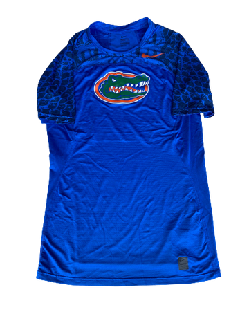 Nick Oelrich Florida Football Team Exclusive Compression Workout Shirt (Size XXL)
