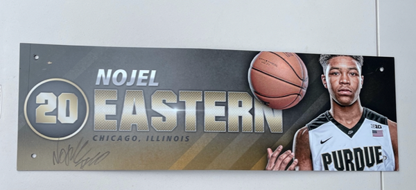Nojel Eastern Purdue Basketball SIGNED Locker Room Name Plate