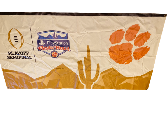 Scott Pagano Clemson Football Exclusive College Football Playoff Fiesta Bowl Stadium Banner (Approximately 10 Feet x 5 Feet)