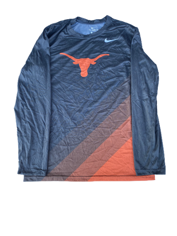Jack Geiger Texas Football Team Issued Long Sleeve Shirt (Size M)