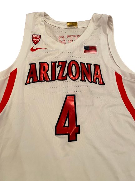 Chase Jeter Arizona Basketball 2019-2020 Season Game-Worn Jersey (Size 50 Length +4)