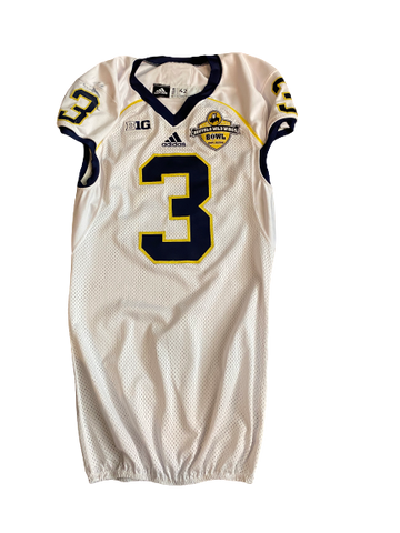 Mike McCray Michigan Football Team Issued Official 2013 Buffalo Wild Wings Jersey