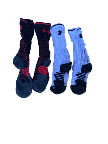 Kendall Calhoun Cincinnati Football Team-Issued Under Armour Socks (Set of 2)