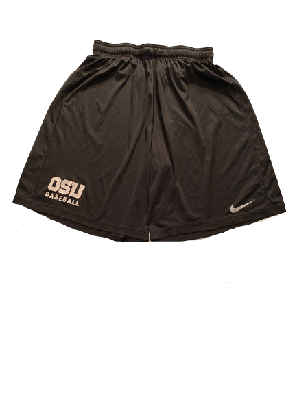 Grant Gambrell Oregon State Baseball Team Issued Workout Shorts (Size XL)