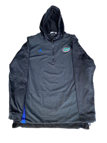 Nick Oelrich Florida Football Team Exclusive Double Layered Quarter-Zip Hoodie (Size L)