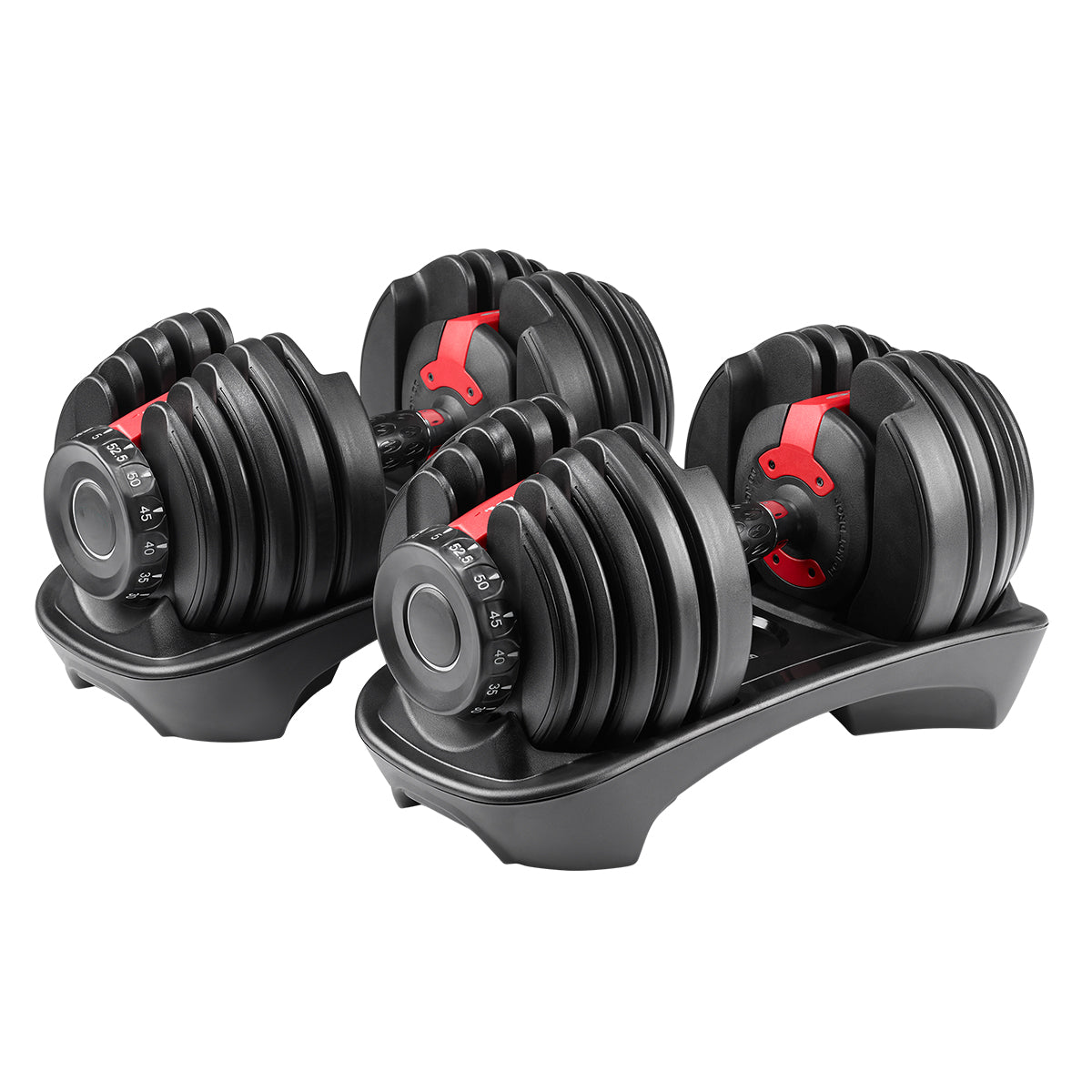 CGS 5-52.5lb Adjustable Dumbbells w/ Stand