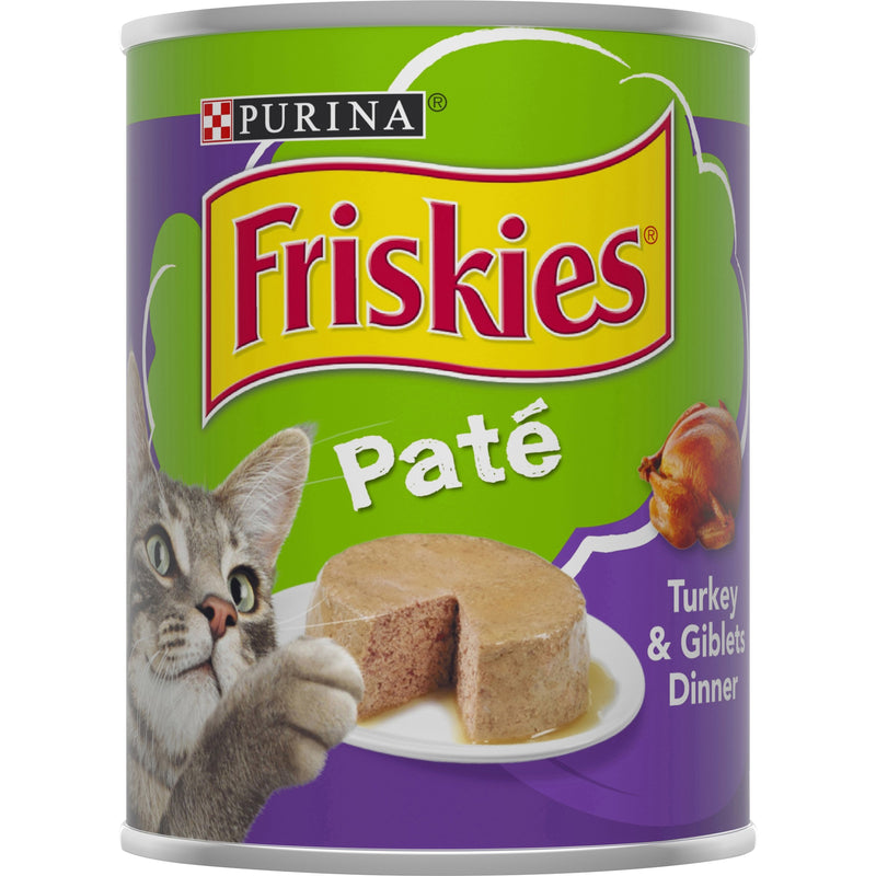 PURINA FRISKIES Wet Can Pate Turkey & Giblets Cat Food 368g - Amin Pet Shop