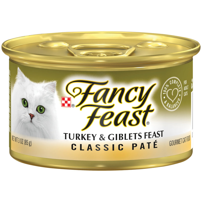PURINA FANCY FEAST Classic Turkey & Giblets Wet Cat Food 85g - Amin Pet Shop