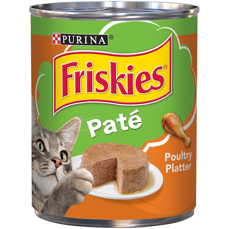 PURINA FRISKIES Wet Can Pate Poultry Platter Cat Food 368g - Amin Pet Shop