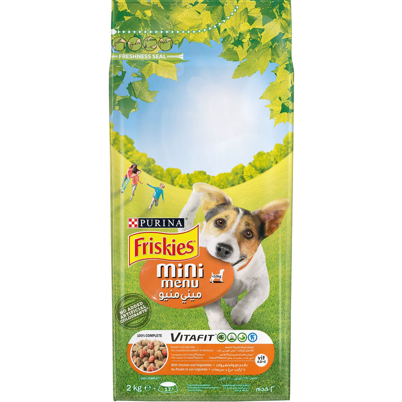 Purina FRISKIES MINI (>10kg) Dog Food with Chicken and Vegetables 2kg - Amin Pet Shop
