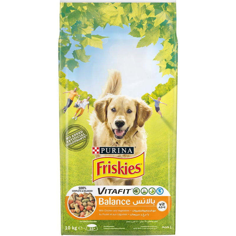 PURINA FRISKIES BALANCE Dog Food with Chicken and Vegetables 10kg - Amin Pet Shop
