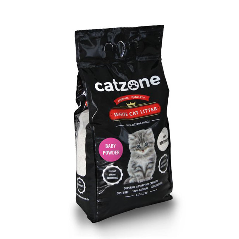 Catzone Cat Litter - Baby Powder 10kg - Amin Pet Shop
