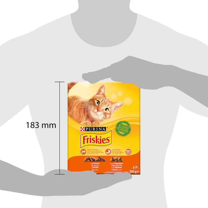 Purina Friskies with Chicken and Vegetables Cat Dry Food 300g - Amin Pet Shop