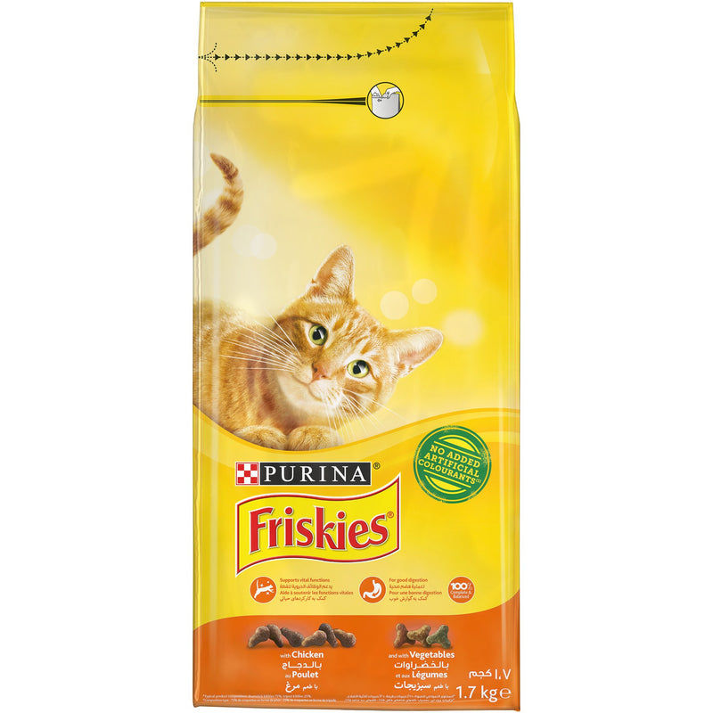 Purina Friskies with Chicken and Vegetables cat Dry Food 1.7Kg - Amin Pet Shop