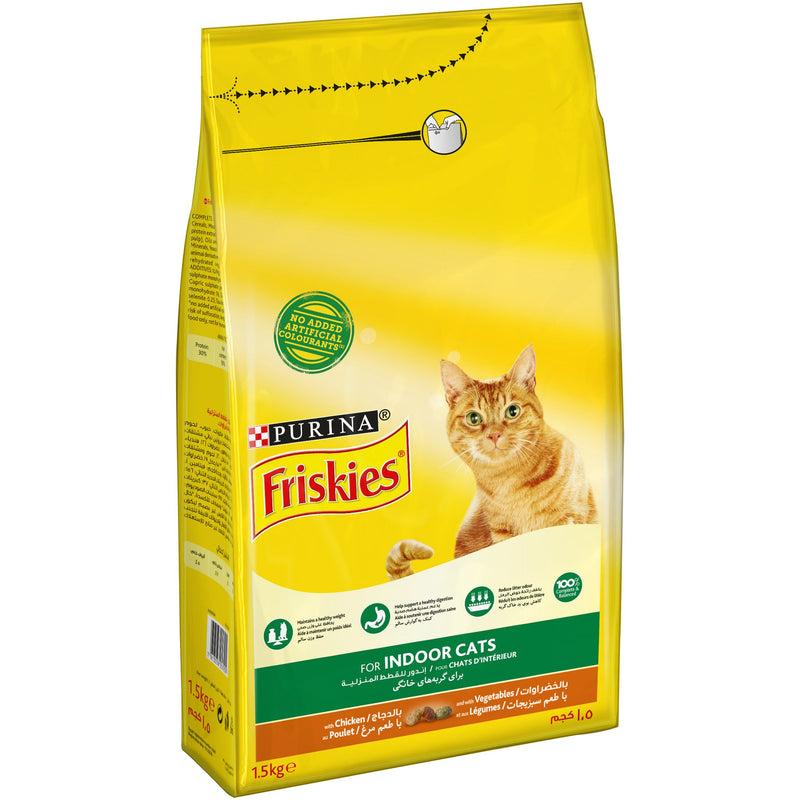 Purina Friskies¨ Indoor for Indoor cats with Chicken and Vegetables Cat dry Food 1.5Kg