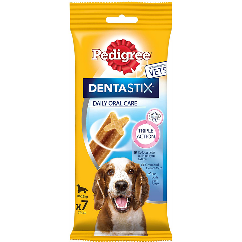Pedigree Dentastix - Daily Oral Care - 7 Sticks - Medium 10-25kg