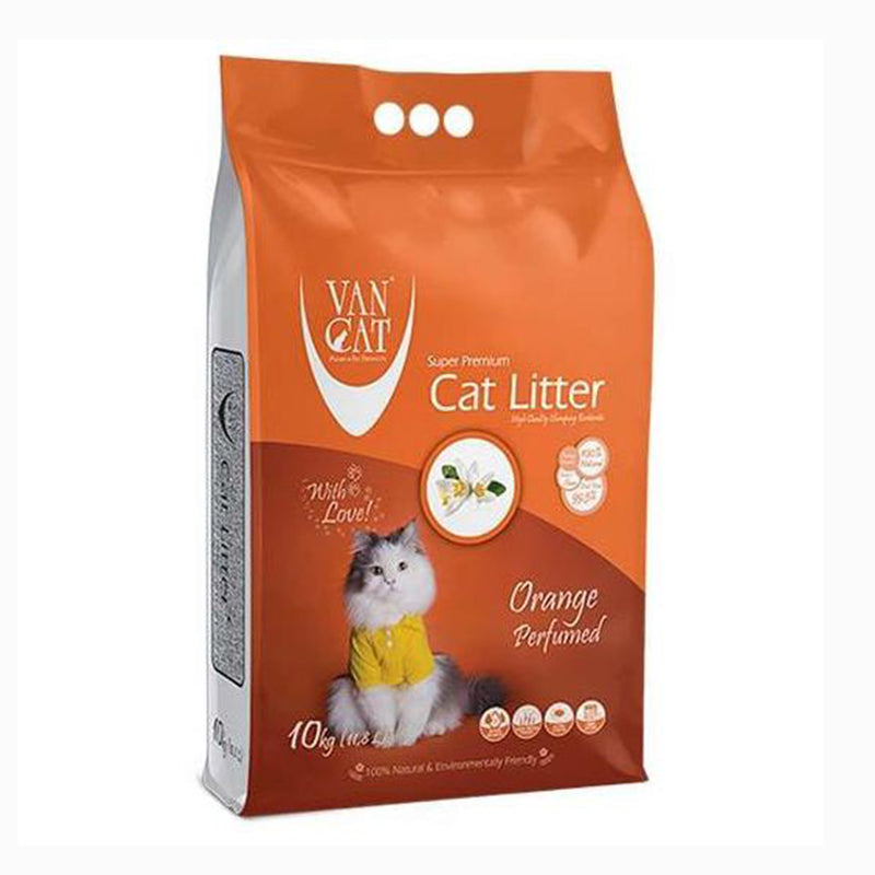 VanCat Cat Litter - Orange Scented 10kg - Amin Pet Shop