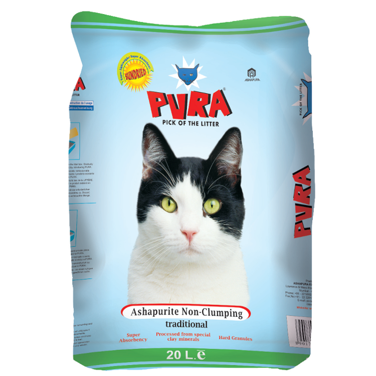 Pura cat litter - Non-clumping  20kg