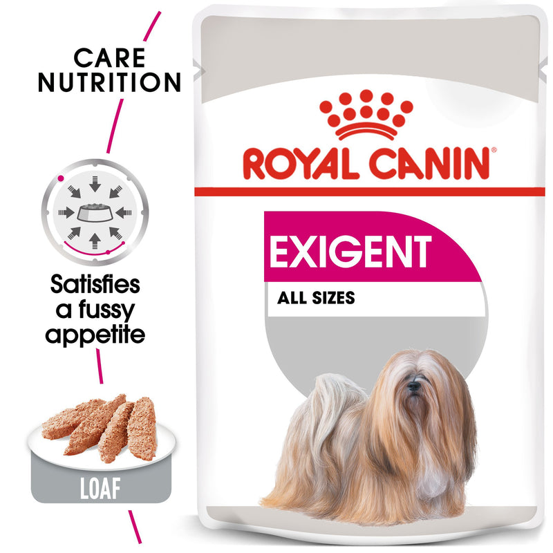 Royal Canin Exigent in Loaf (85 gm\ pouch) - Wet food for dogs with fussy appetites - Amin Pet Shop
