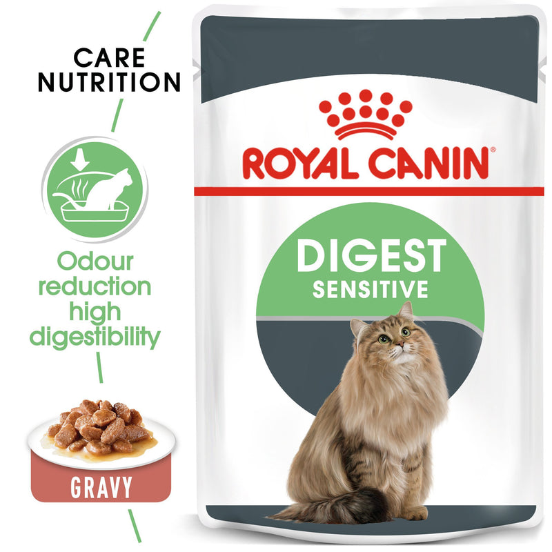 Royal Canin Digest Sensitive in Gravy (85 gm\pouch) - Wet food for Adult cats - helps support healthy digestion - Amin Pet Shop