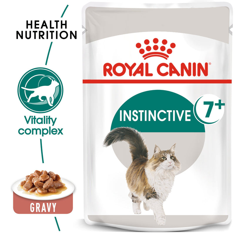 ROYAL CANIN¨ Instinctive 7+ in Gravy (85 gm\ Pouch) - Wet food for cats over 7 years old - Amin Pet Shop