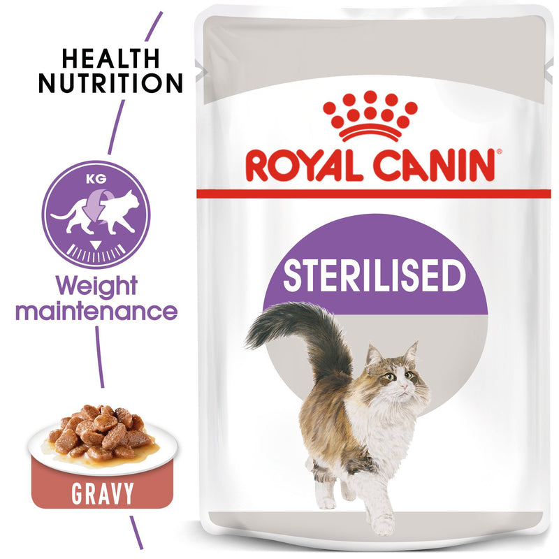 Royal Canin Sterilised in Loaf (85 gm\Pouch) - Wet food for neutered adult cats - Amin Pet Shop