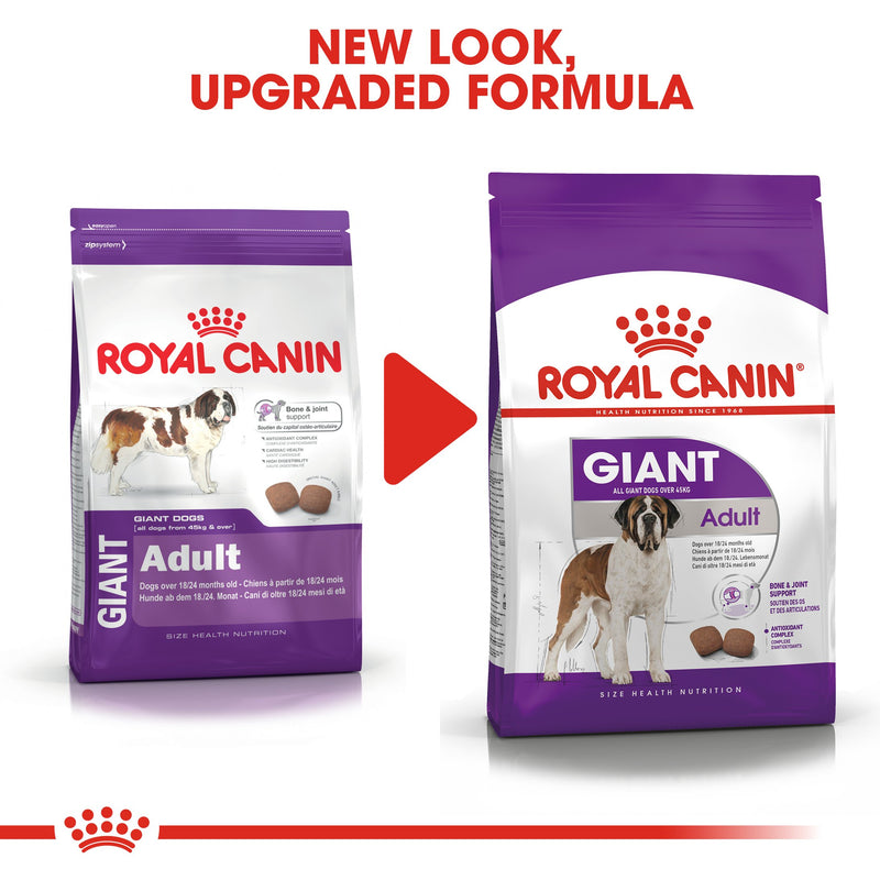 Royal Canin Giant Adult (15KG) - Dry food for giant active dogs. Adult weight from 45 kg and over - over 18\24 months - Amin Pet Shop