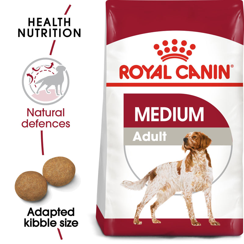 Royal Canin Medium Adult (4 KG) - Dry food for medium dogs from 11 to 25 KG. From 12 months to 7 years - Amin Pet Shop