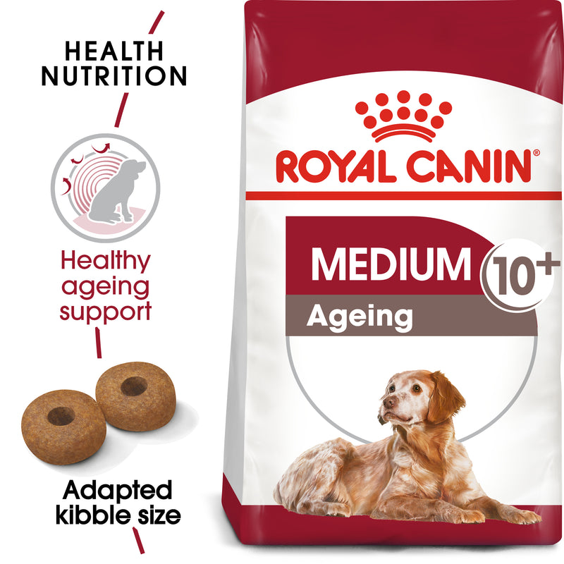 Royal Canin Medium Ageing 10+ (3 KG)- Dry food for medium dogs from 11 to 25 KG. over 10 years