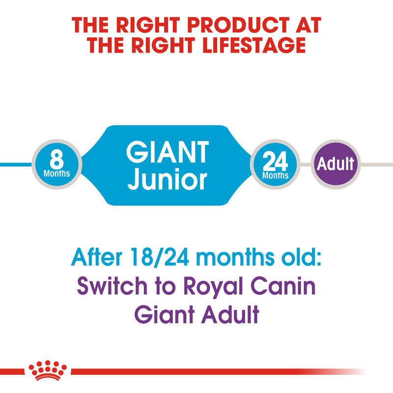 Royal Canin Giant Junior (3.5 KG) - Dry food for giant dogs - Adults weight from 45 KG and over - from 8 months to 18\24 months