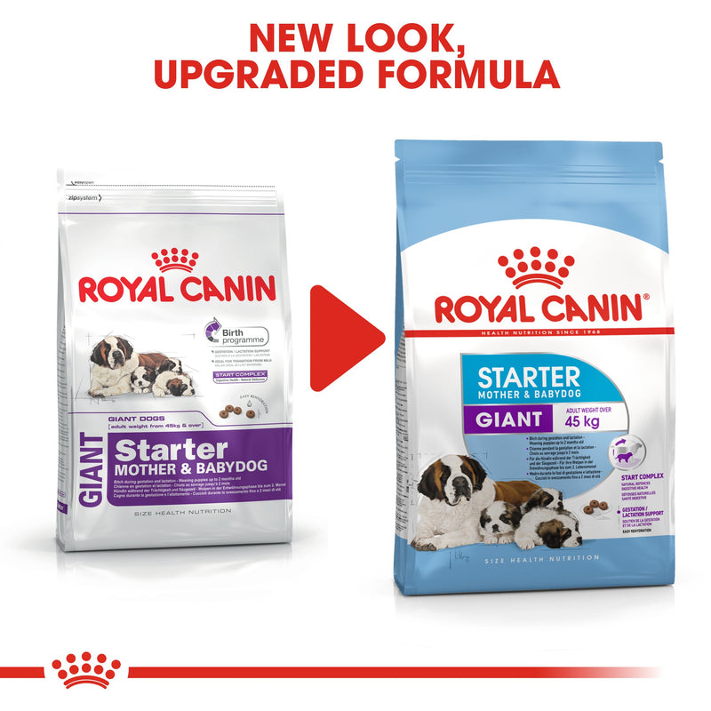 Royal Canin Giant Starter Mother & Babydog (4 KG) - Dry food for giant puppies. Adult weight from 45 KG and over - Mother during gestation and lactation - Weaning puppies up to 2 months
