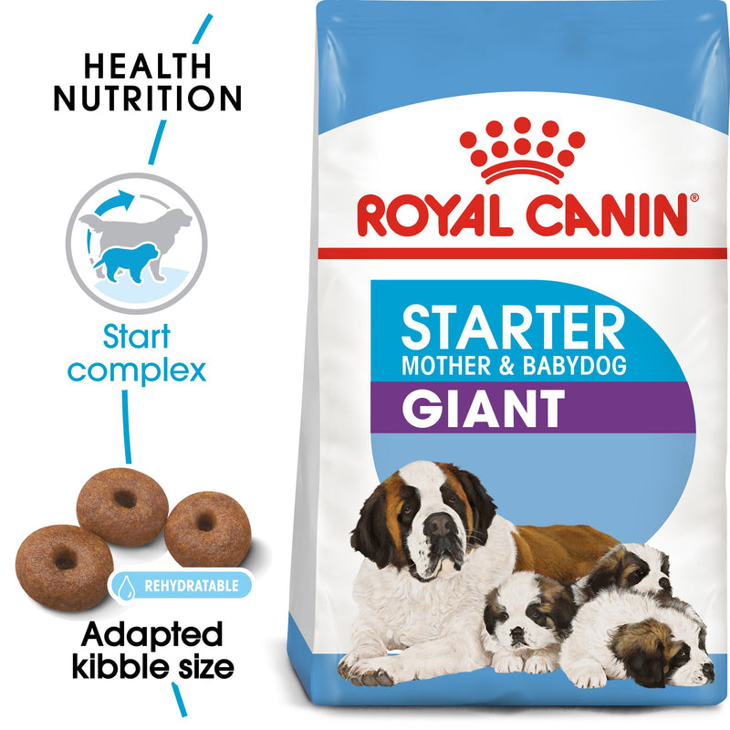 Royal Canin Giant Starter Mother & Babydog (4 KG) - Dry food for giant puppies. Adult weight from 45 KG and over - Mother during gestation and lactation - Weaning puppies up to 2 months - Amin Pet Shop