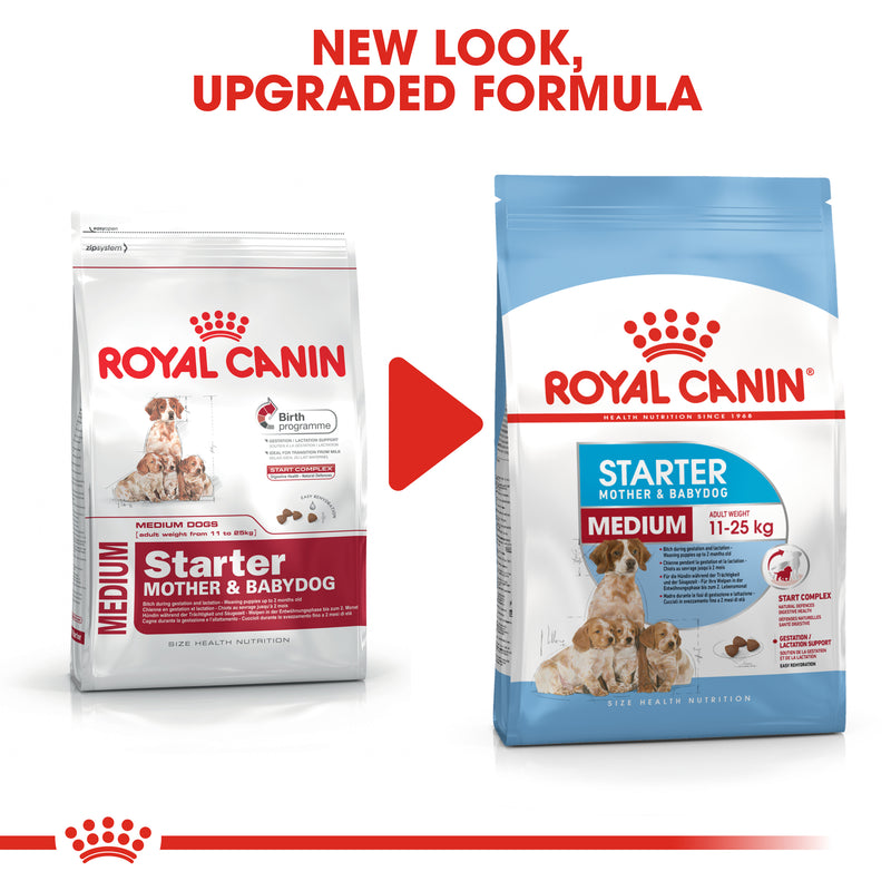 Royal Canin Medium Starter Mother and Babydog (4 KG) - for medium dogs - Adult weight between 11 and 25 KG. Mother during gestation and lactation - weaning puppies up to 2 months
