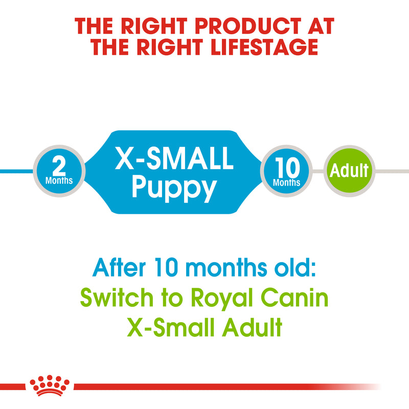 Royal Canin X-Small Puppy (1.5 KG) - Dry food for very small dogs - Adult weight up to 4 KG. Up to 10 months