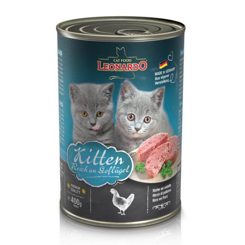 LEONARDO CAT WET FOOD for kittens  400g