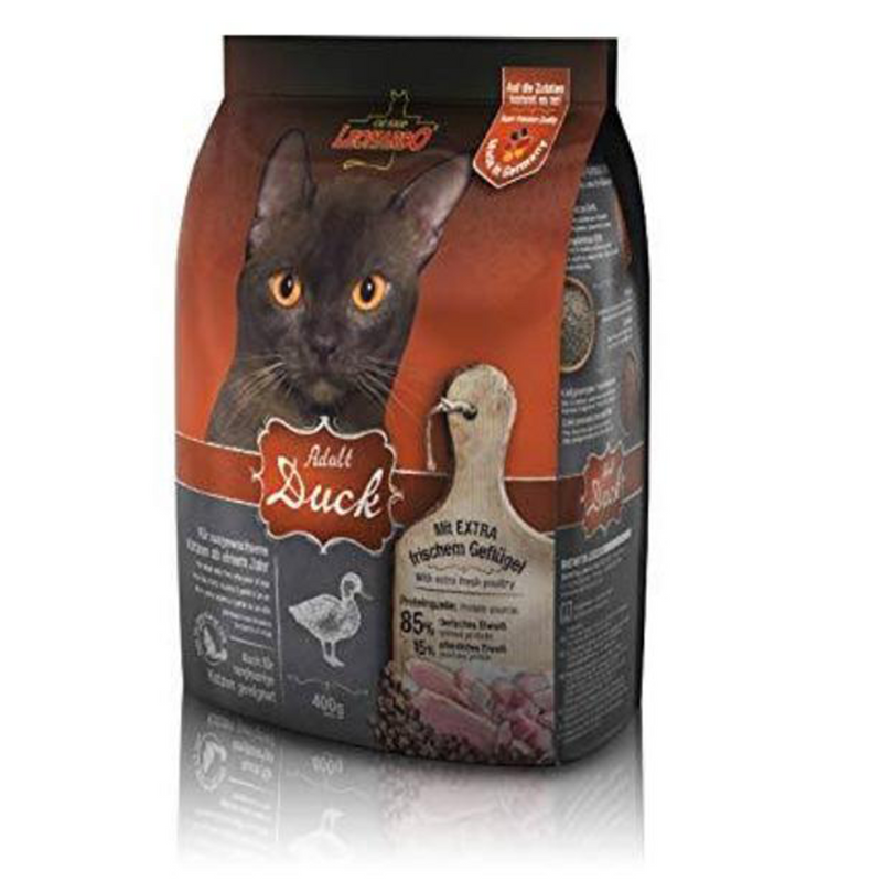 LEONARDO Adult Cat Dry Food with Duck  400g