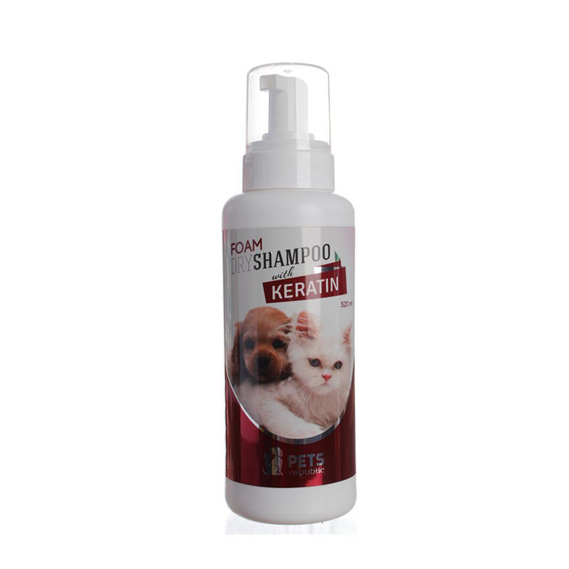 Pets Republic Foam Shampoo with Keratin 520 ml