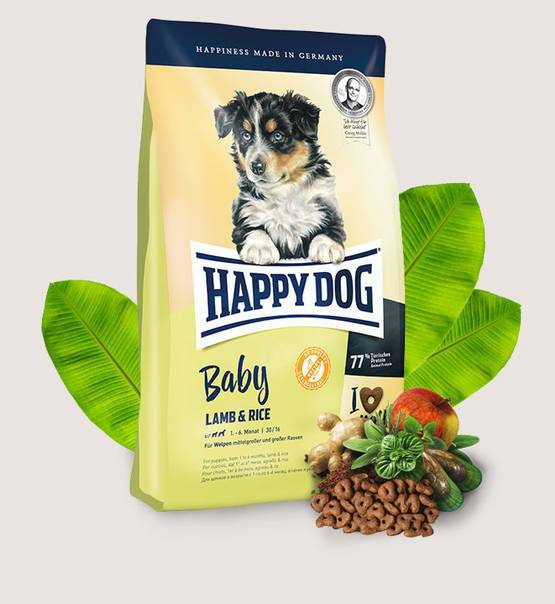 Happy Dog Baby Lamb & Rice - Dry dog food for puppies 4kg - Amin Pet Shop