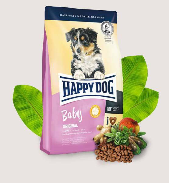 Happy Dog Baby Original - Dry dog food for puppies 4kg - Amin Pet Shop