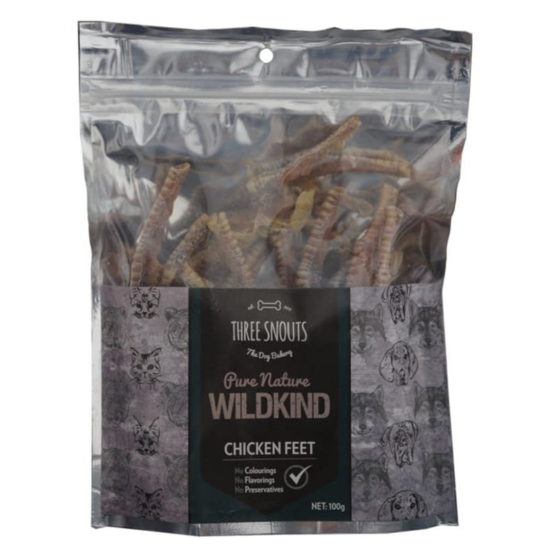 Three Snouts-Pure Nature WILDKIND Chicken Feet 100g