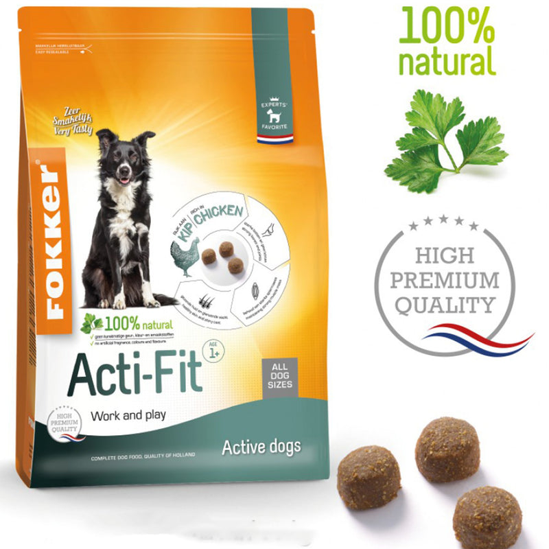 Fokker Dog Acti-Fit 13kg - Amin Pet Shop
