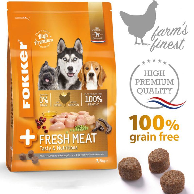 Fokker Dog +Fresh Meat 13kg - Amin Pet Shop