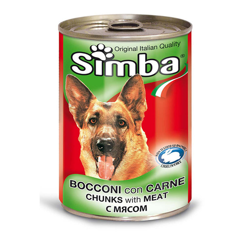 Simba Chunkies with Meat - wet dog food 415g - Amin Pet Shop